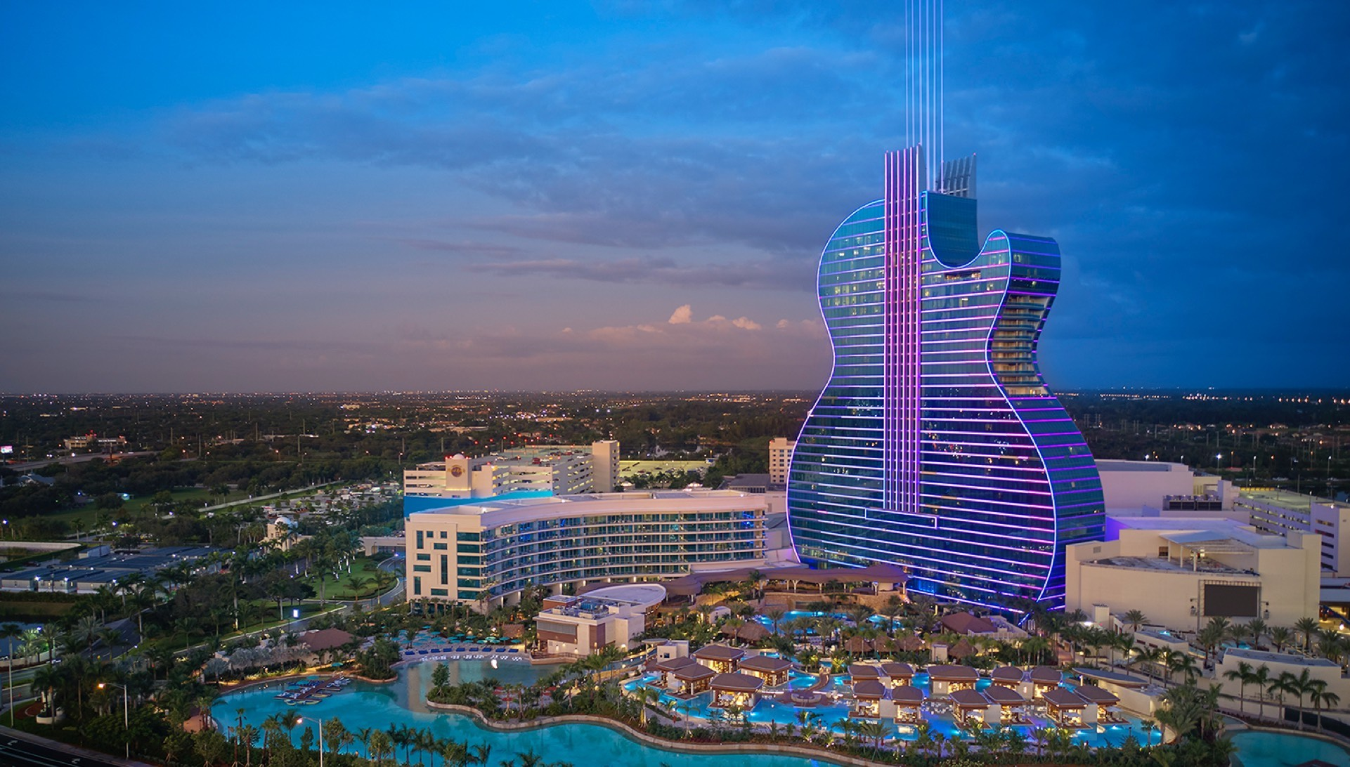 Seminole Hard Rock Hollywood Hotel - Guitar Tower | MUSE Design Awards